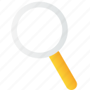 find, glass, lens, magnifier, search, zoom icon