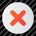 cross, delete, false, remove, wrong