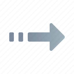 arrow, direction, forward, next, right, way icon