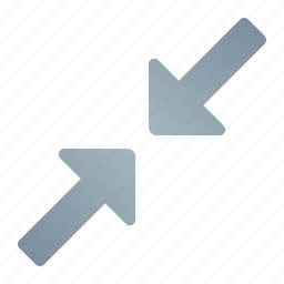 arrow, minimum, resize, small icon