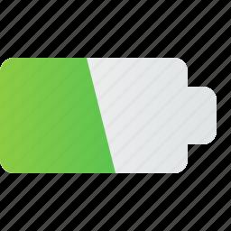 battery, charge, chrging, ess, half, plug icon