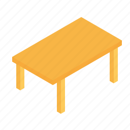 furniture, grid, household, isometric, table icon