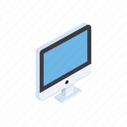computer, device, electronic, grid, isometric, laptop, pc icon