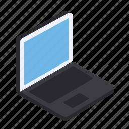 device, grid, isometric, laptop, pc icon