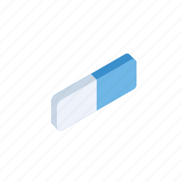 draw, eraser, grid, ink, isometric, rubber, sketch icon