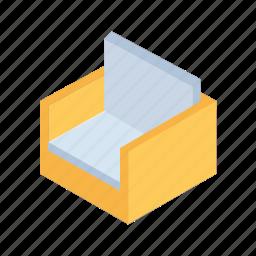 furniture, grid, isometric, sit, sofa icon