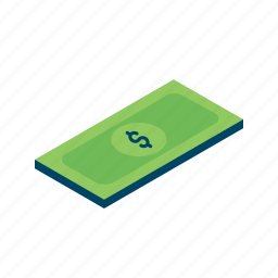 finance, grid, income, isometric, money, note icon