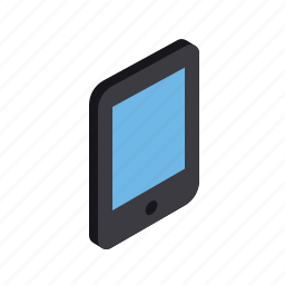 device, electronic, grid, isometric, smartphone, tablet icon