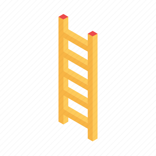 down, grid, isometric, ladder, stair, up icon