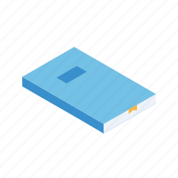 book, education, grid, isometric, study icon