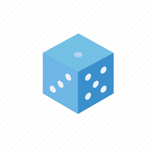 dice, fun, game, grid, isometric, play icon