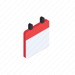 calender, day, grid, isometric, manage, schedule icon