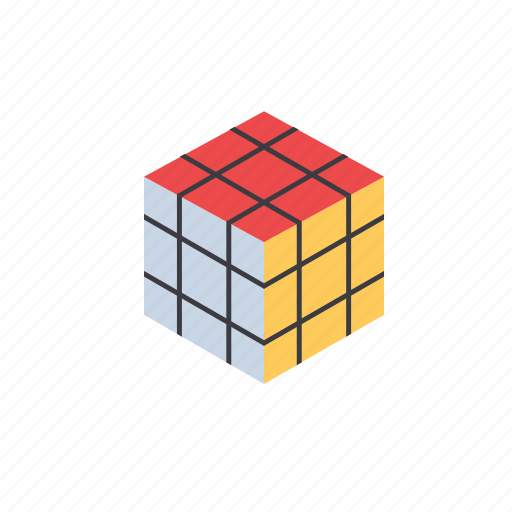cube, fun, game, grid, isomatric, isometric, play icon