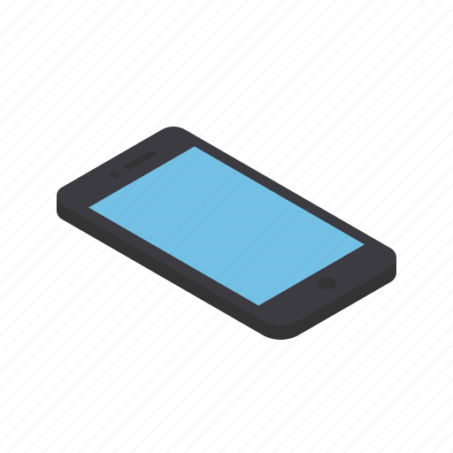 device, front, grid, isometric, mobile, smartphone, view icon