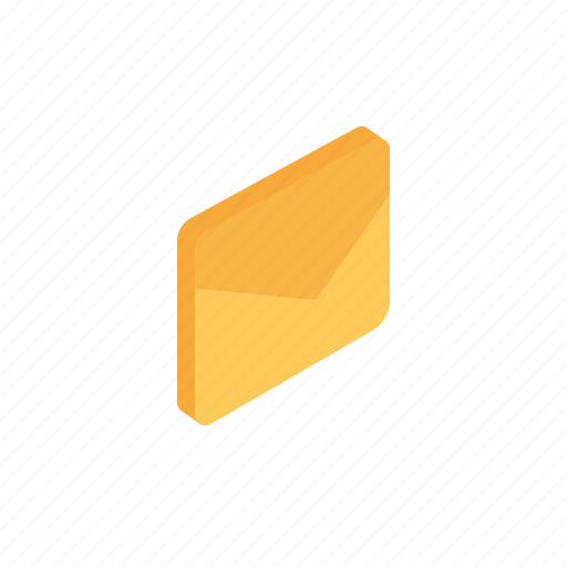 email, envelope, grid, inbox, isometric, mail icon