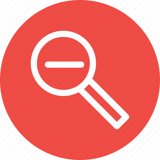Glass, lens, magnifier, minus, remove, search, zoom icon - Download on Iconfinder