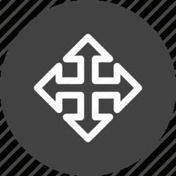 arrow, direction, mark, path, way icon
