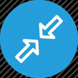 arrow, minimum, resize, small, ui icon