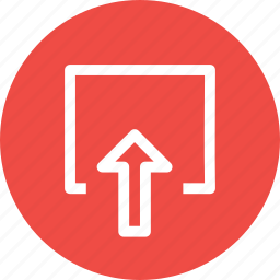 arrow, box, document, download, file, share icon