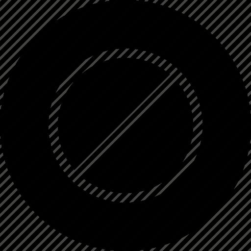 Circle, denied, notice, remove, round icon - Download on Iconfinder