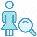 find, magnifier glass, male, people, person, user icon