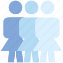 female, group, people, person, stand, team, users