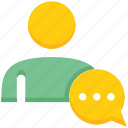 chat, male, message, people, person, user icon