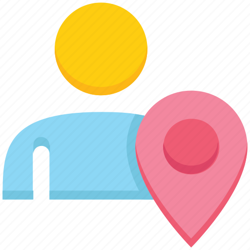 location pin, male, map pin, people, person, user icon