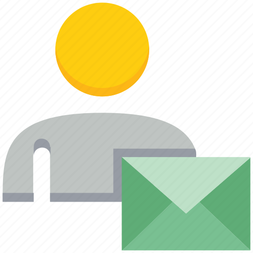 envelope, letter, male, people, person, user icon