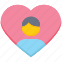 heart, love, male, people, person, user icon