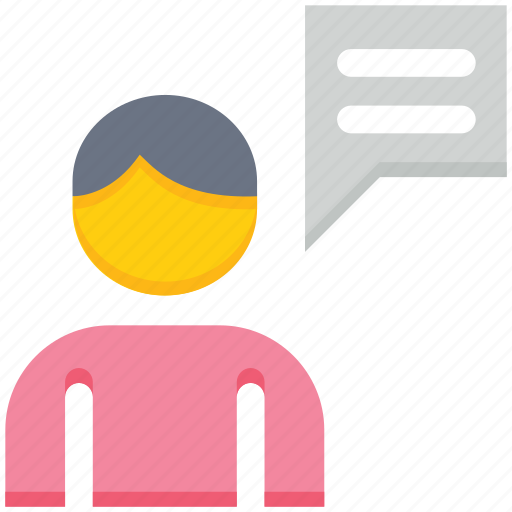 chat, male, message, support, talk, user icon