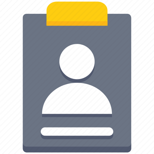 account, business, clipboard, interface, male, user icon