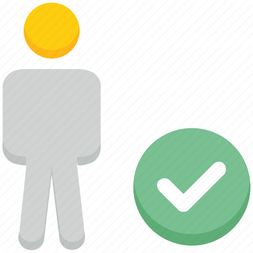 access, check, male, people, person, stand, user icon