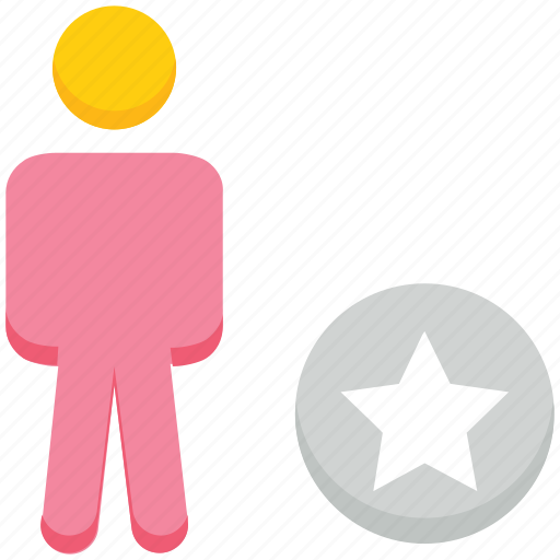 favorite, male, people, person, stand, star, user icon