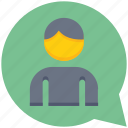 chat, message, support, talk, user icon