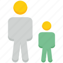 avatar, dad, people, person, son, stand, user icon