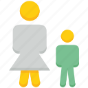 avatar, mom, people, person, son, stand, user icon
