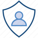 male, people, person, secure, shield, user icon