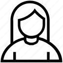 avatar, female, people, person, profile, user
