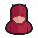 blind, costume, daredevil, devil, evil, horns, mask icon