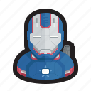 avengers, captain america, iron, iron man, marvel, patriot, war machine icon