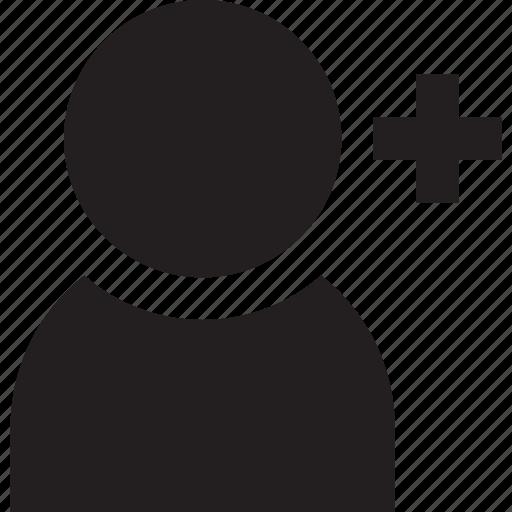 account, add, avatar, profile, solid, user icon