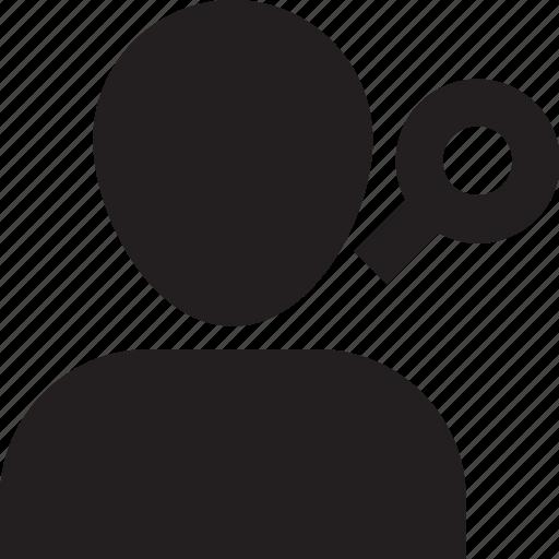 account, avatar, find, profile, search, solid, user icon