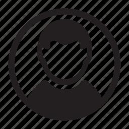 circle, man, photo, round, user, users icon