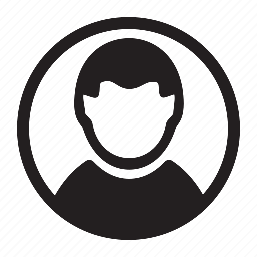 circle, man, photo, round, user, users icon