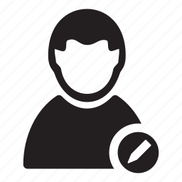 change, edit, man, pen, users icon