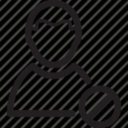 block, male, man, profile, prohibited, user icon