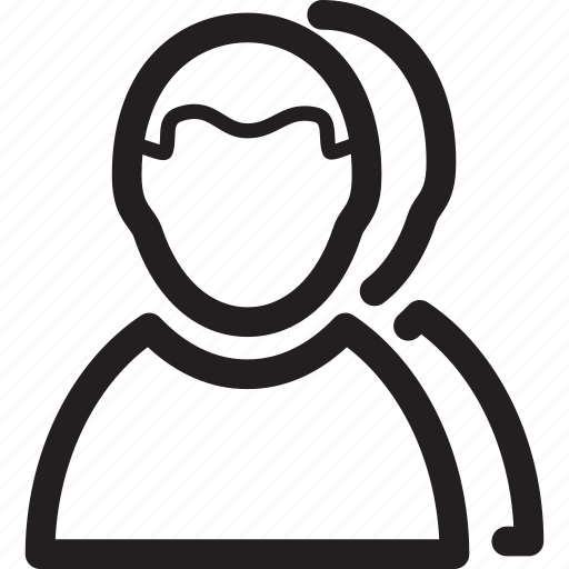 duplicate, male, man, profile, user icon