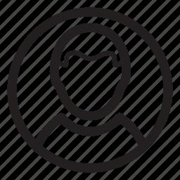 circle, male, man, profile, user icon