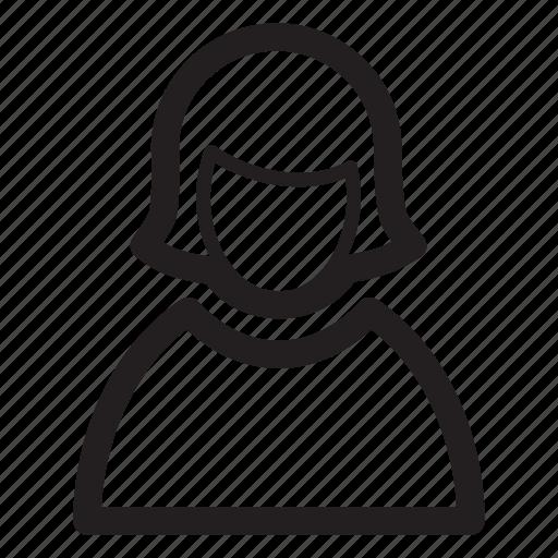 female, person, profile, user, woman icon
